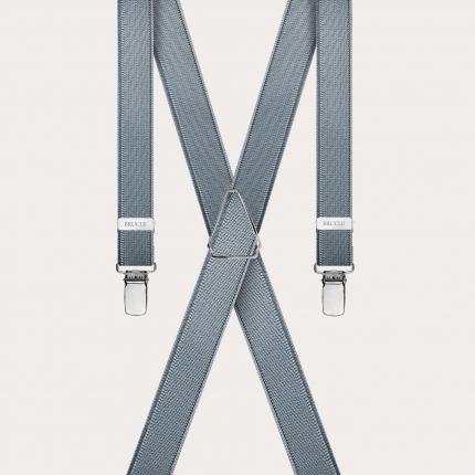 Bretelle grigie lucide sottili in raso