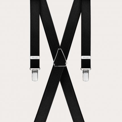 schmale Hosenträger schwarz x form