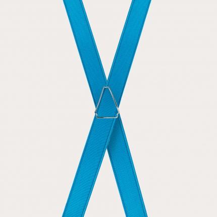 Hosenträger schmale hellblau x form