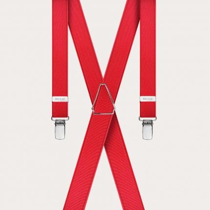 Bretelle rosse sottili in raso