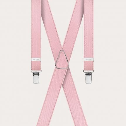 Bretelles extra-fines rose avec 4 clips