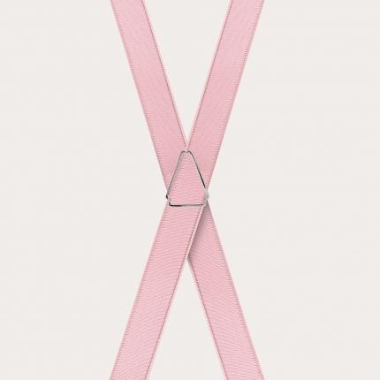 Hosenträger schmale pinke x form
